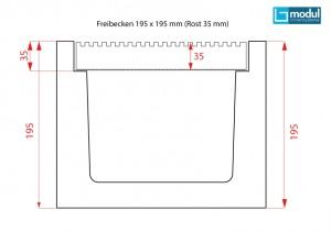 Freibecken-195-x-195-mm-(Rost-35-mm)